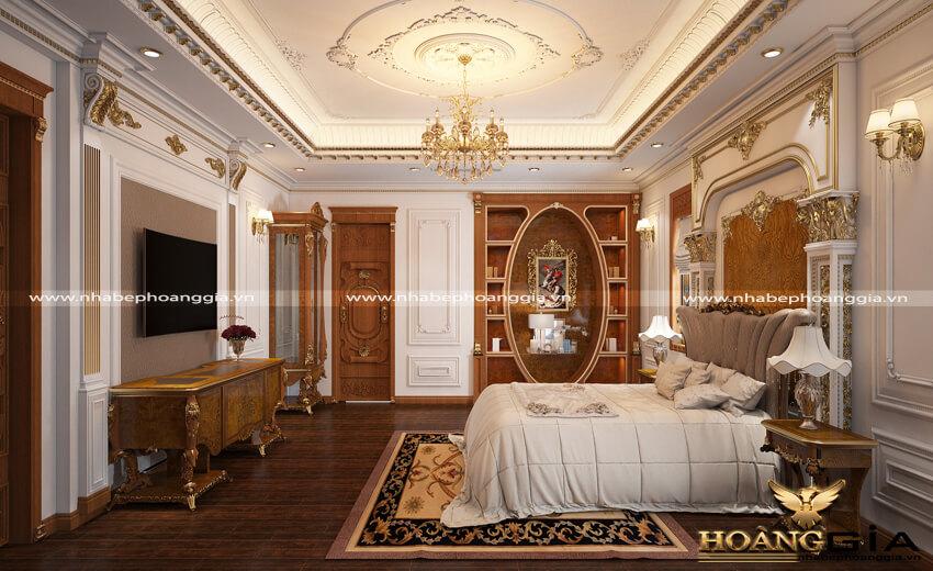 thiết kế phòng ngủ tân cổ điển