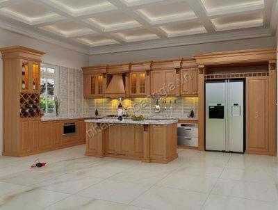 tủ bếp đẹp gỗ tự nhiên