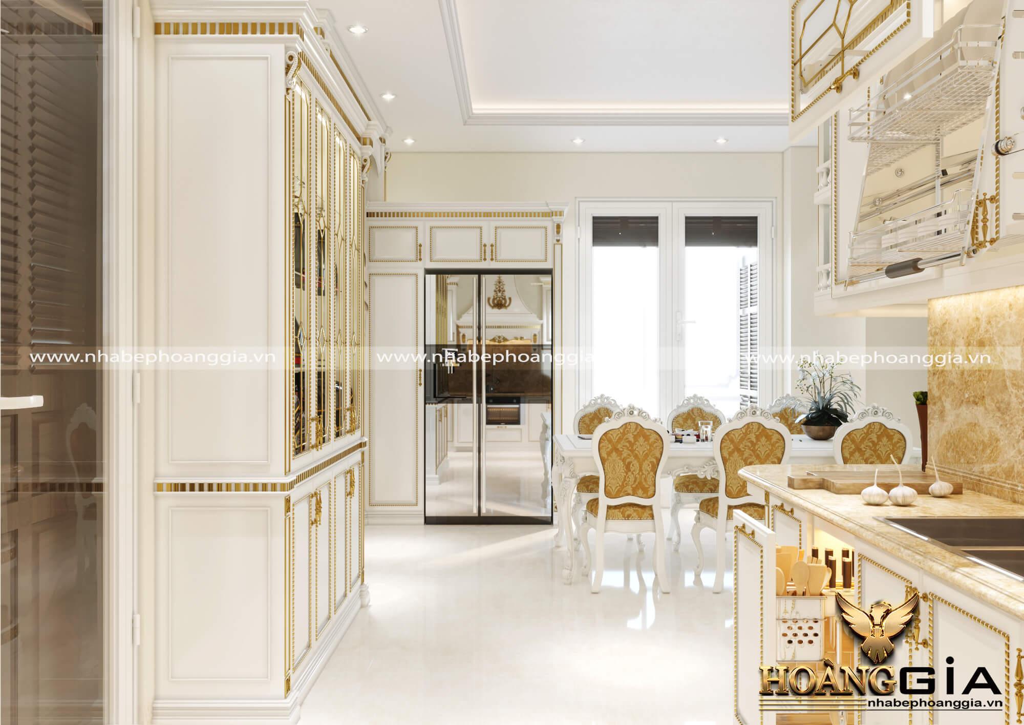 thiết kế tủ bếp biệt thự vinhome riverside