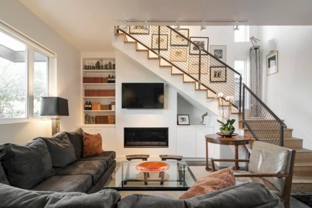 mẫu cầu thang phòng khách đẹp