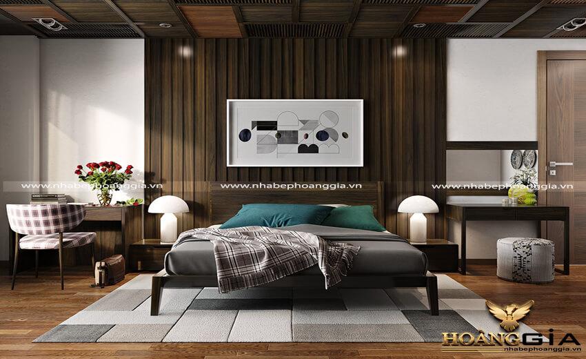mẫu giường gỗ đẹp 2019