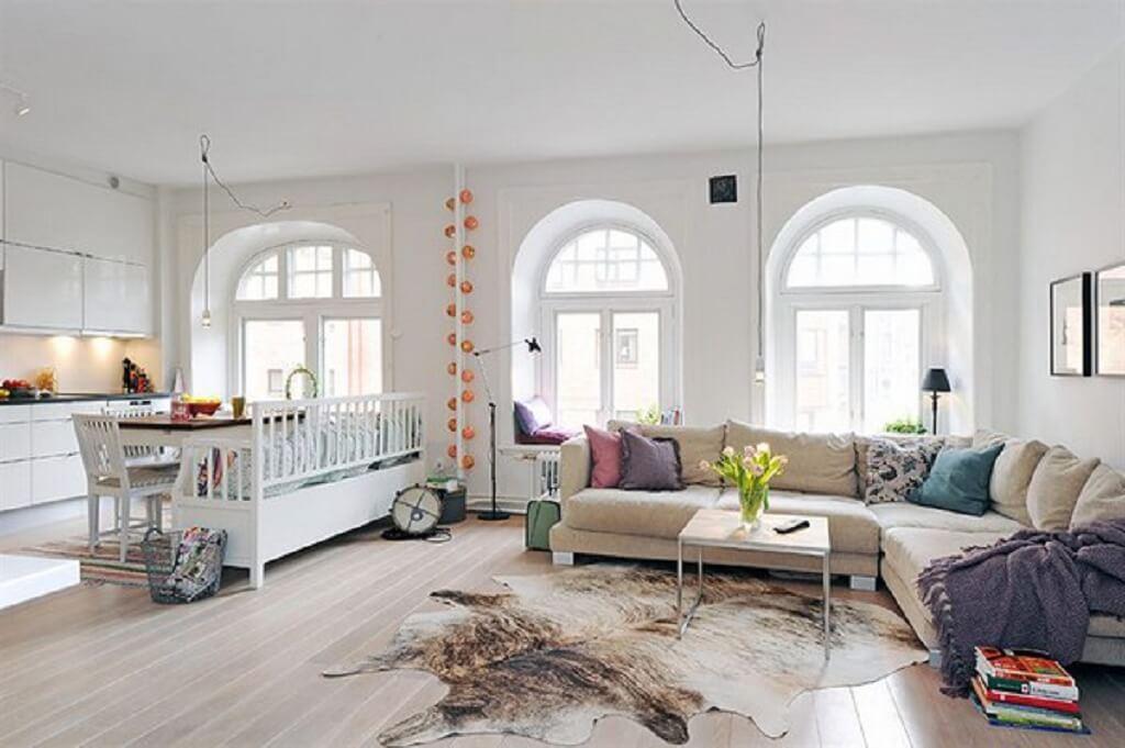 nội thất phòng khách Scandinavian