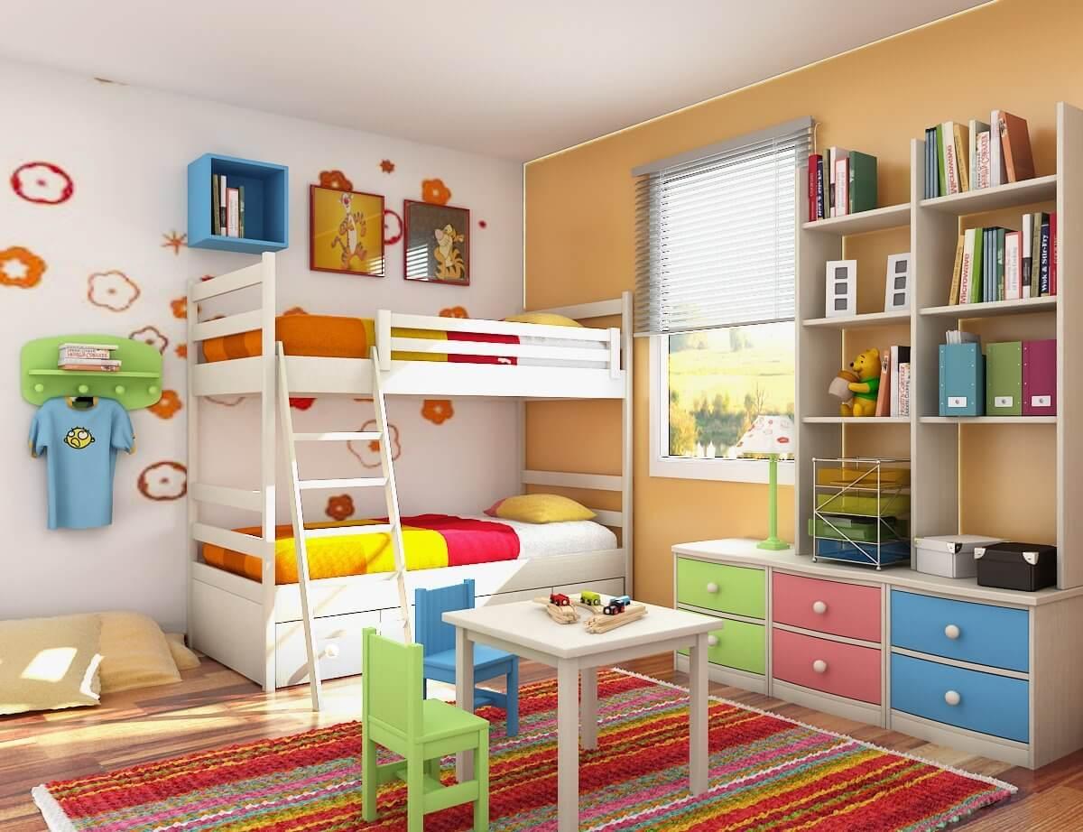 thiết kế nội thất phòng ngủ cho bé yêu