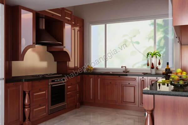 tủ bếp gỗ hương tự nhiên