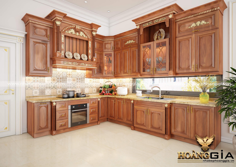 ưu và nhược điểm của tủ bếp gỗ tự nhiên