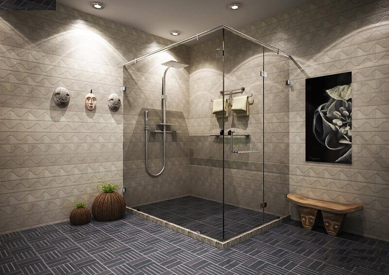 kích thước phòng tắm đứng