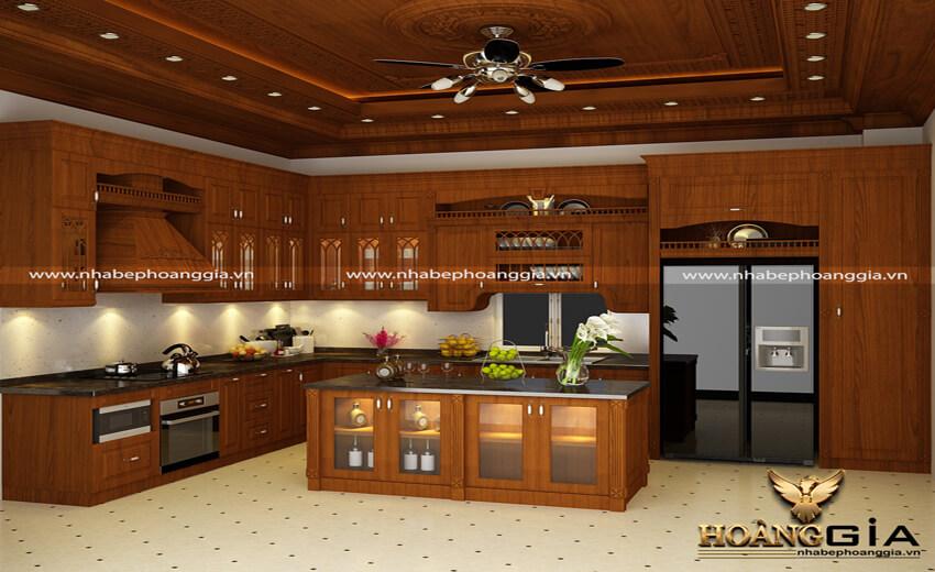 nên làm tủ bếp gỗ tự nhiên hay tủ bếp gỗ công nghiệp
