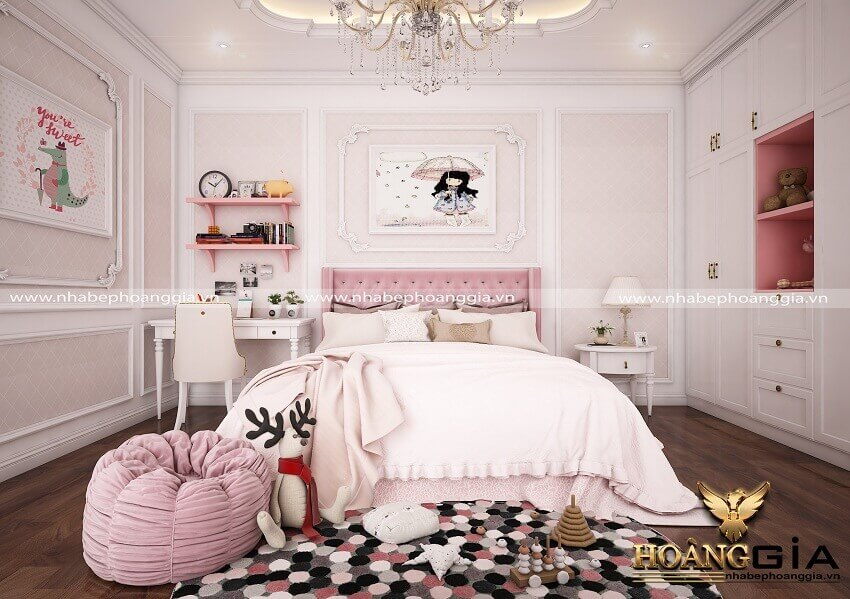 cách trang trí phòng ngủ đẹp cho con gái