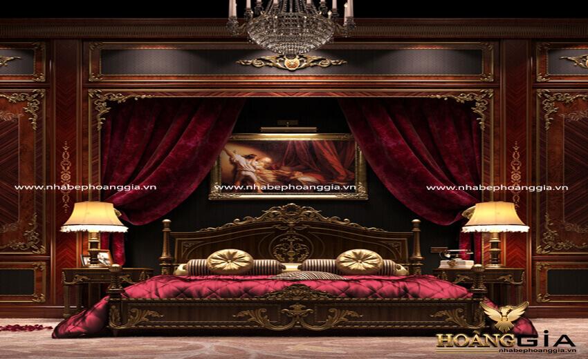 mẫu giường cổ điển Châu Âu