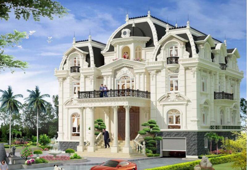 lâu đài 2 tầng kiểu Pháp