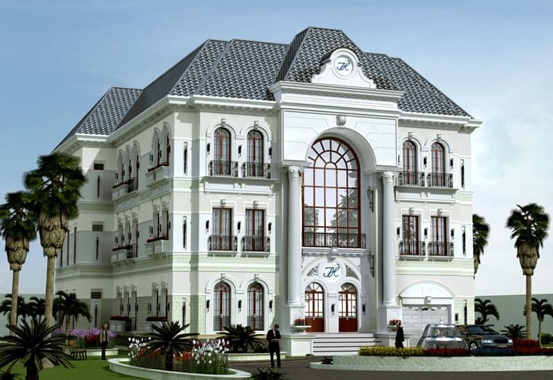 mẫu biệt thự tân cổ điển 3 tầng