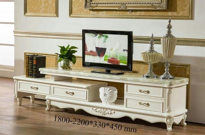 mẫu kệ tivi phòng khách tân cổ điển