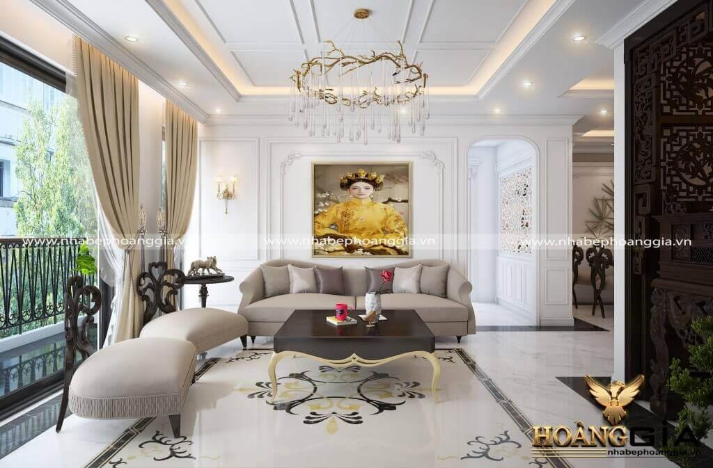 mẫu phòng khách chung cư đẹp