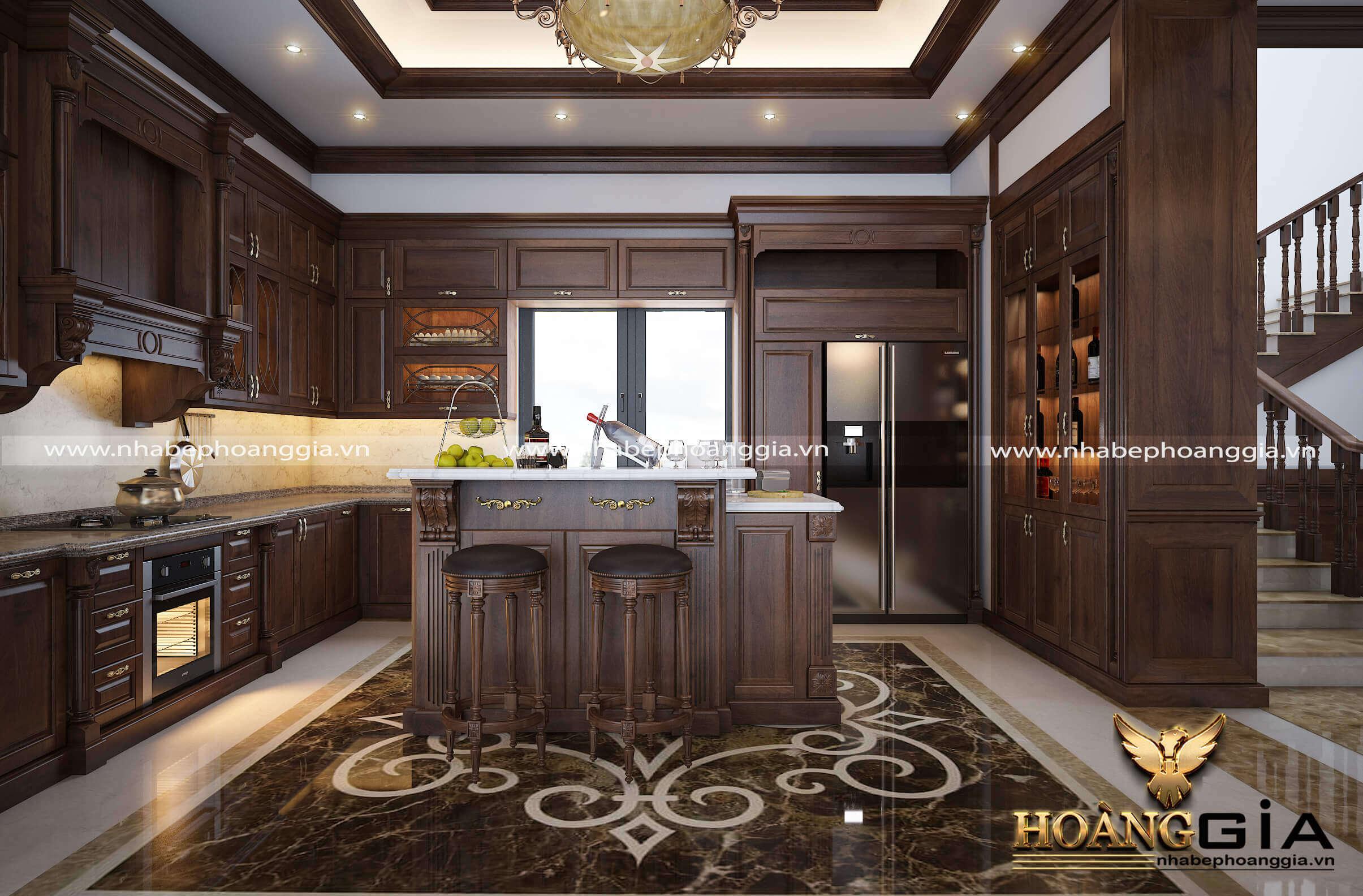 mẫu tủ bếp đẹp cho biệt thự