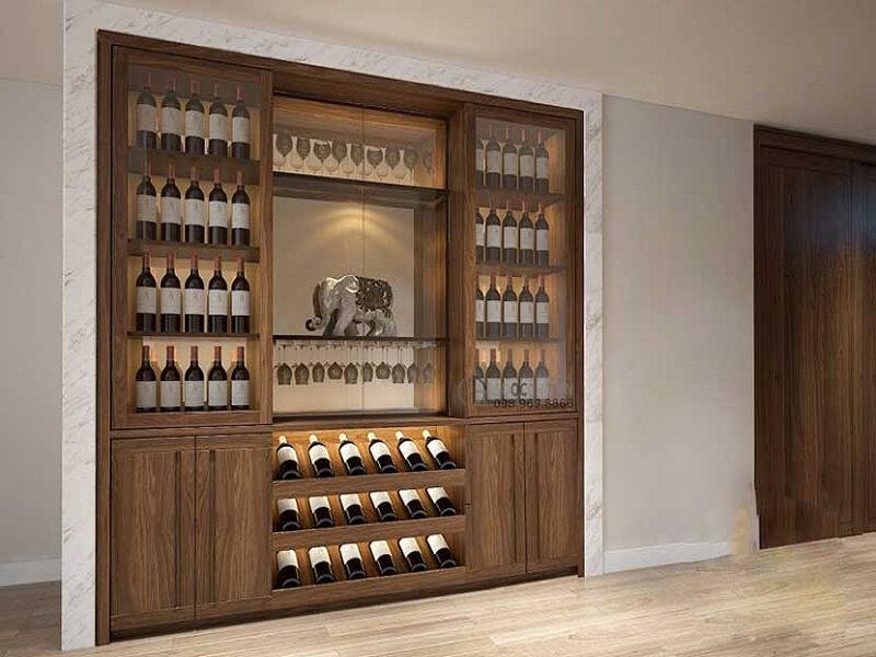 mẫu tủ rượu gỗ đẹp sang trọng
