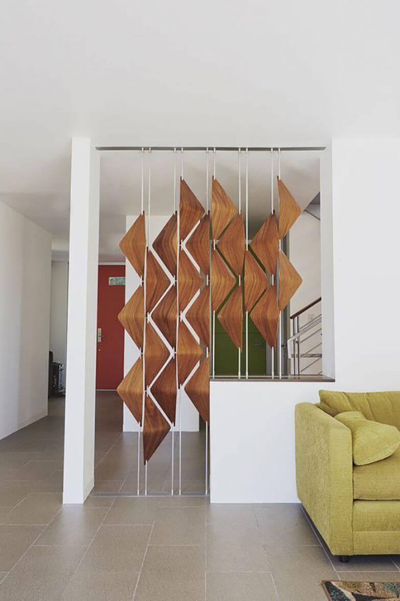 mẫu vách ngăn phòng khách và bếp
