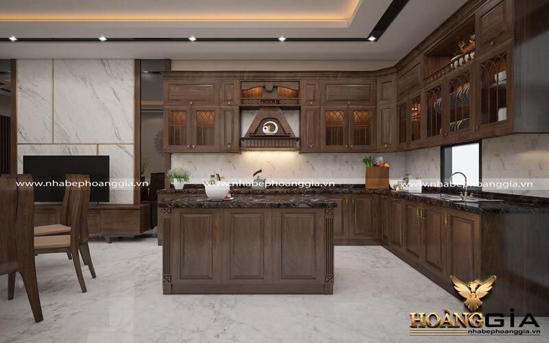 nên đóng tủ bếp hiện đại bằng gỗ nào
