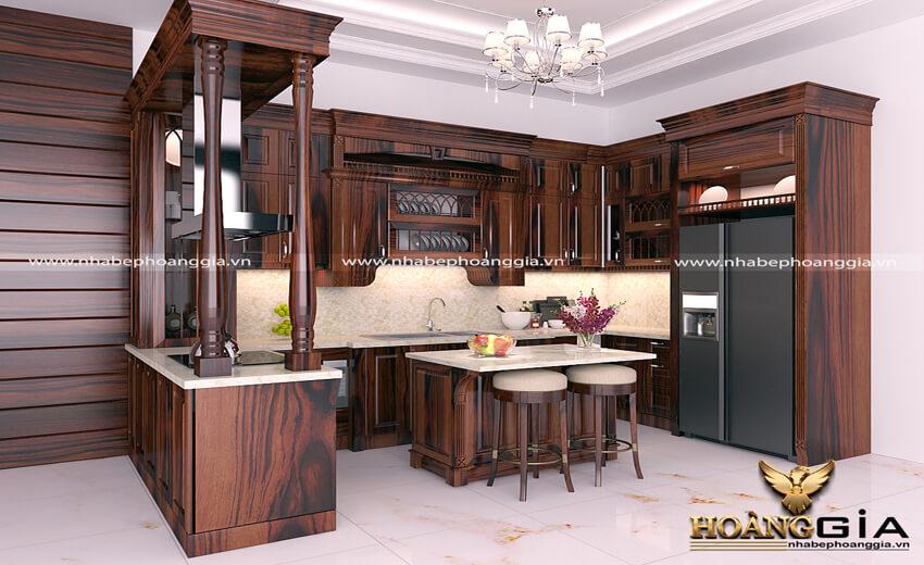 nên làm tủ bếp bằng gỗ gì?