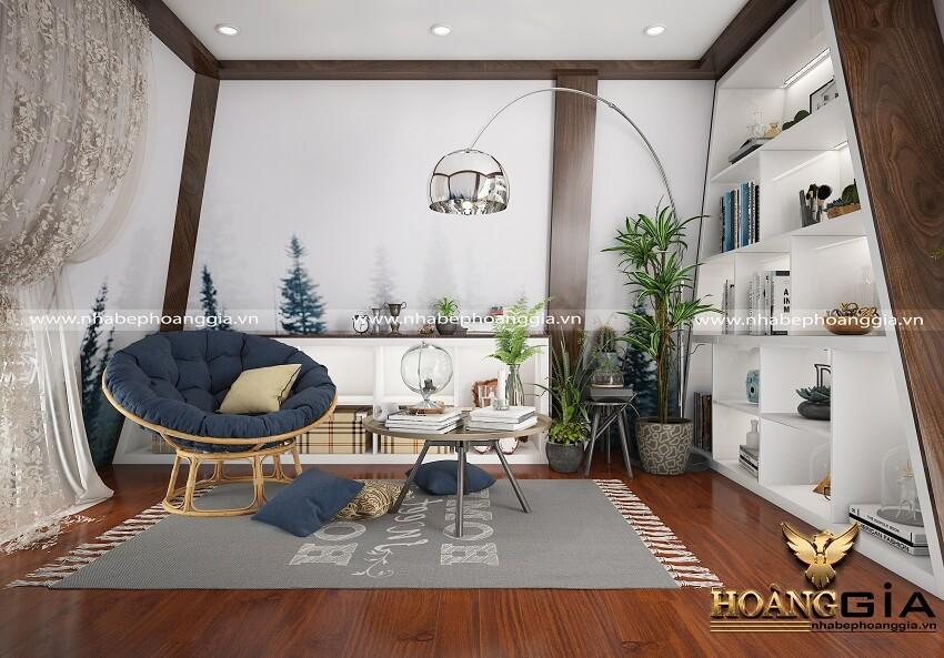 thiết kế nội thất biệt thự nhà anh Sang