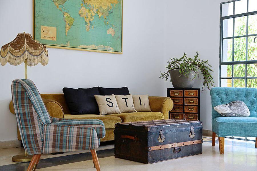 phòng khách Vintage