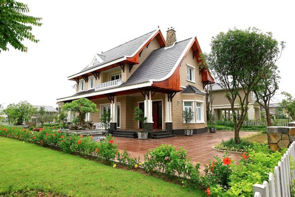 biệt thự nhà vườn 2 tầng tân cổ điển