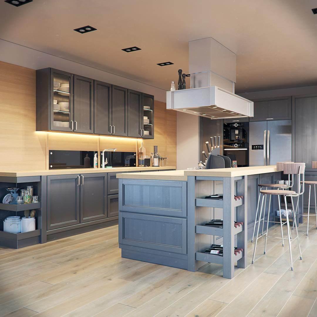 xu hướng thiết kế phòng bếp chung cư 2019