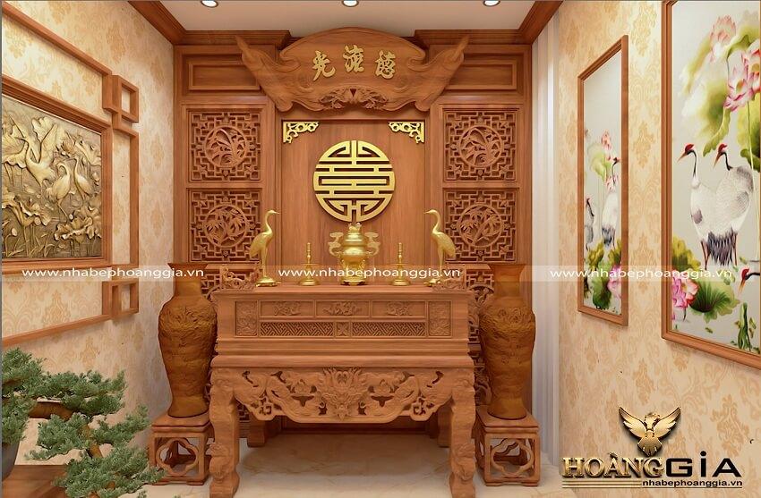 yếu tố phong thủy trong thiết kế phòng thờ