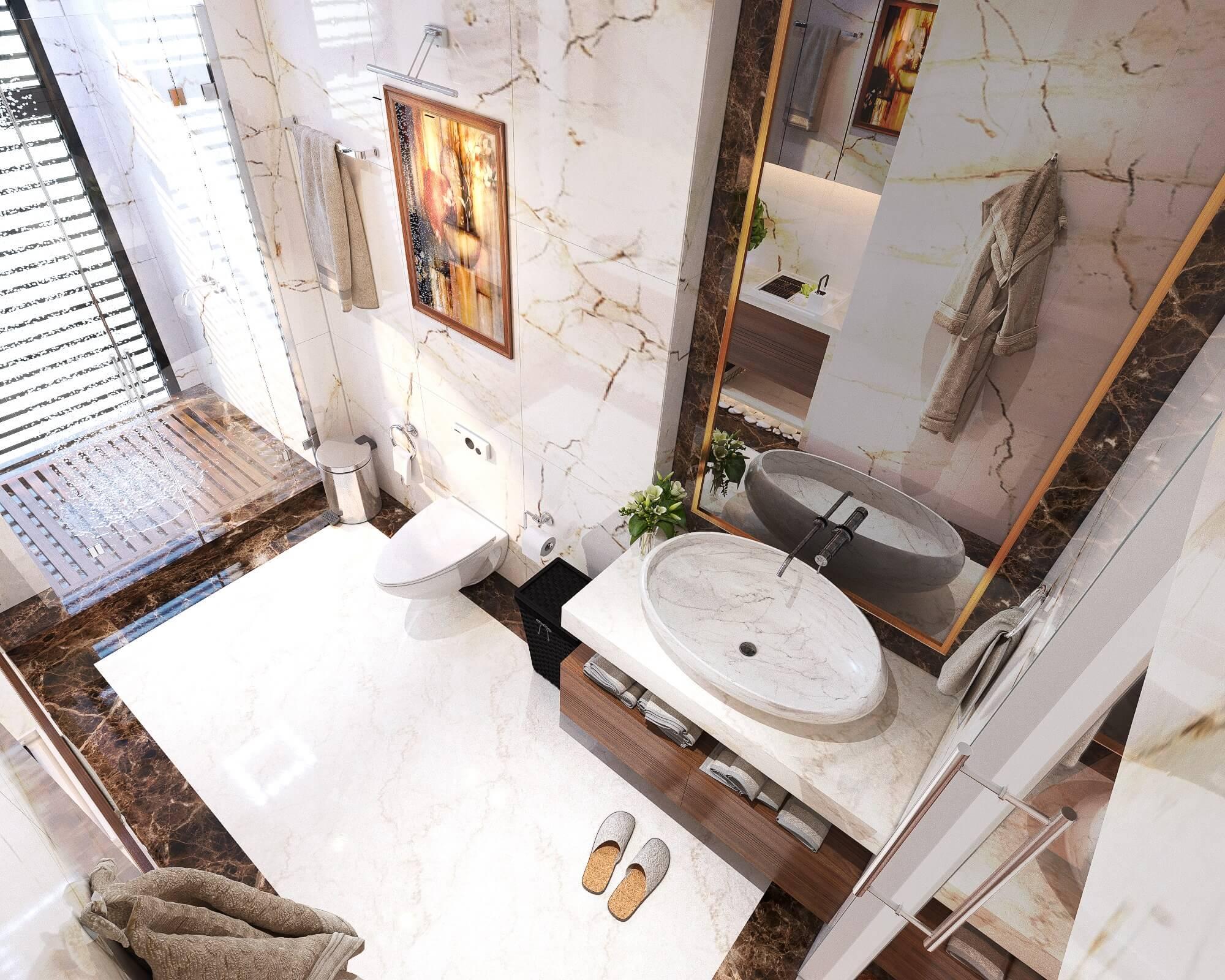 lưu ý trong thiết kế phòng tắm