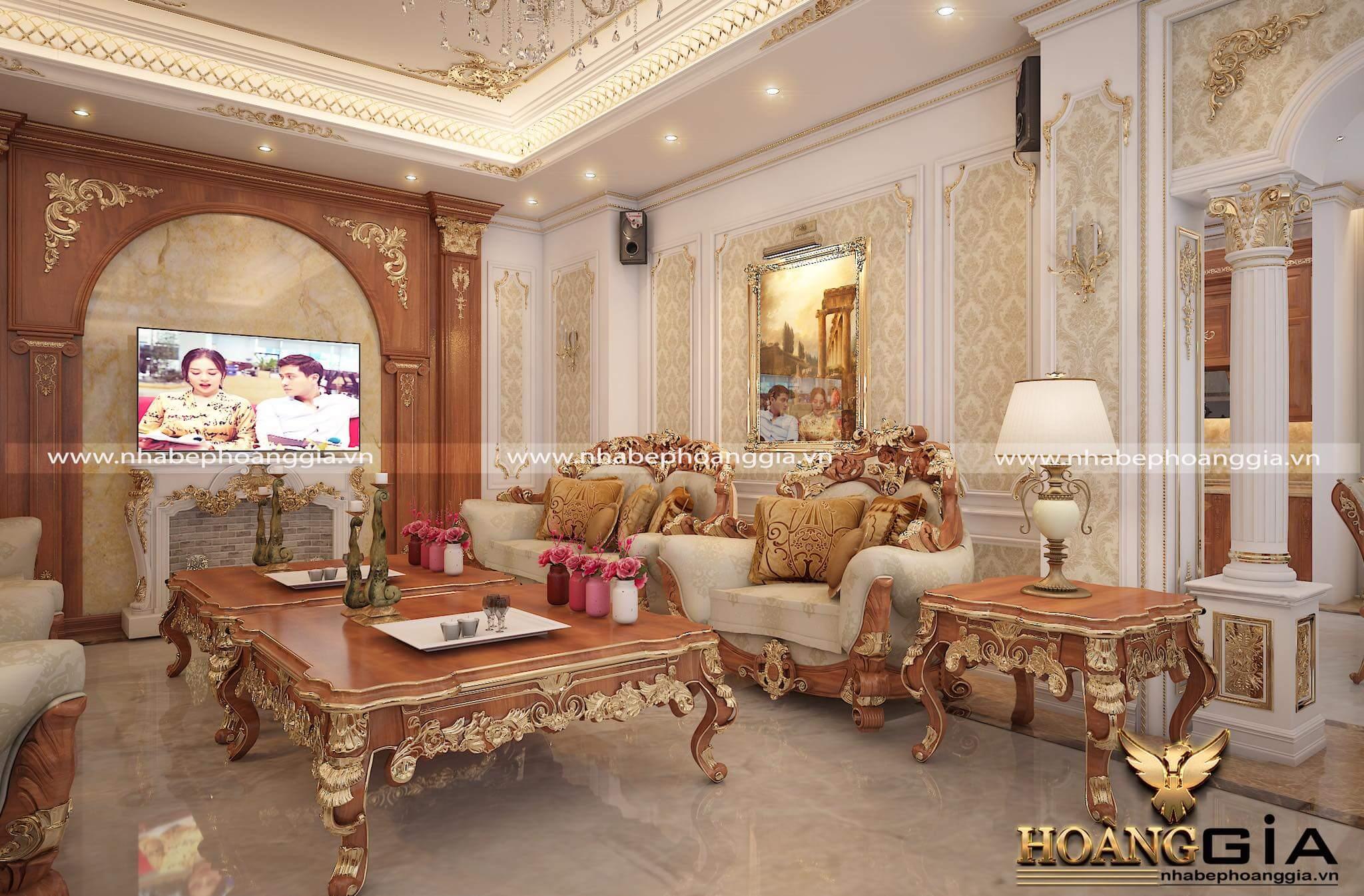 thiết kế phòng khách biệt thự