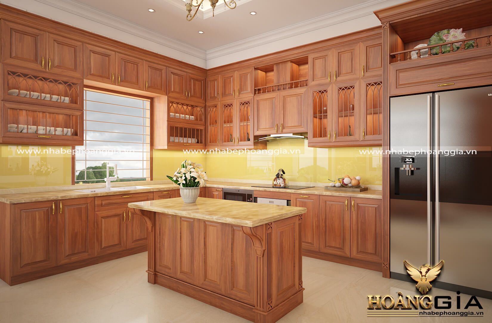 nên sử dụng tủ bếp gỗ hay tủ bếp nhôm