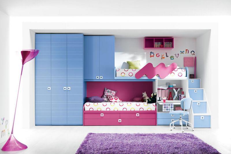 thiết kế giường tầng đa năng cho bé