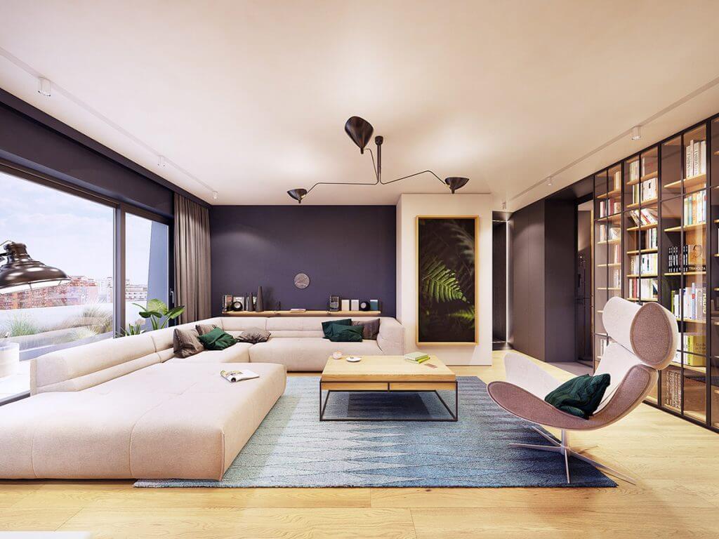 Mẫu thiết kế nội thất căn hộ 120m2