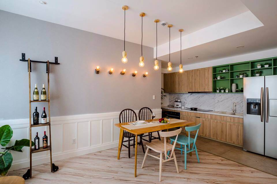 thiết kế nội thất căn hộ chung cư 72m2
