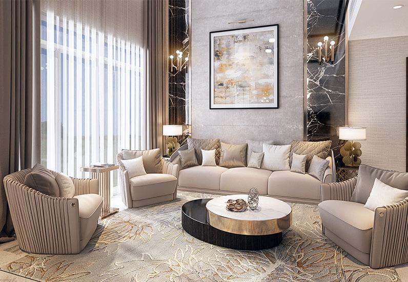thiết kế nội thất cao cấp không gian mở