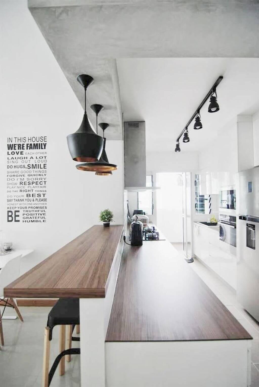 thiết kế quầy bar nhà bếp đẹp