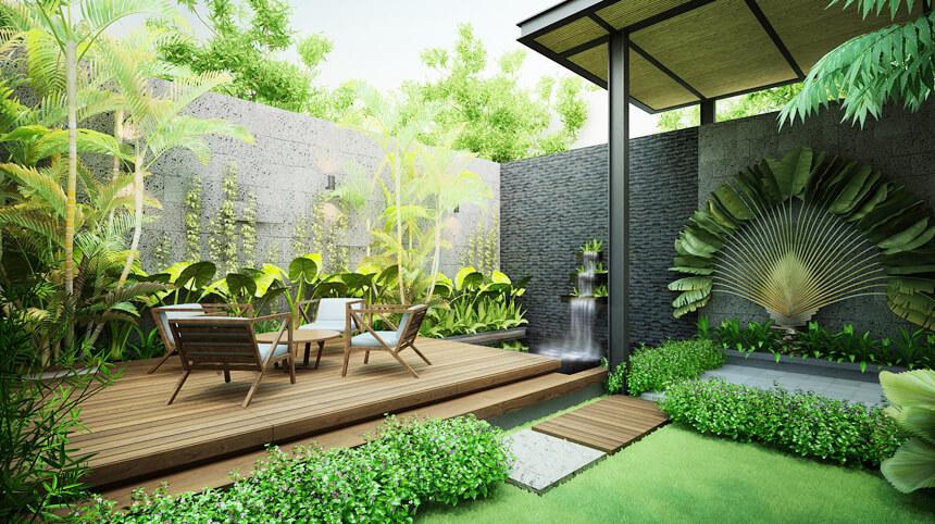 thiết kế sân vườn đẹp 2019