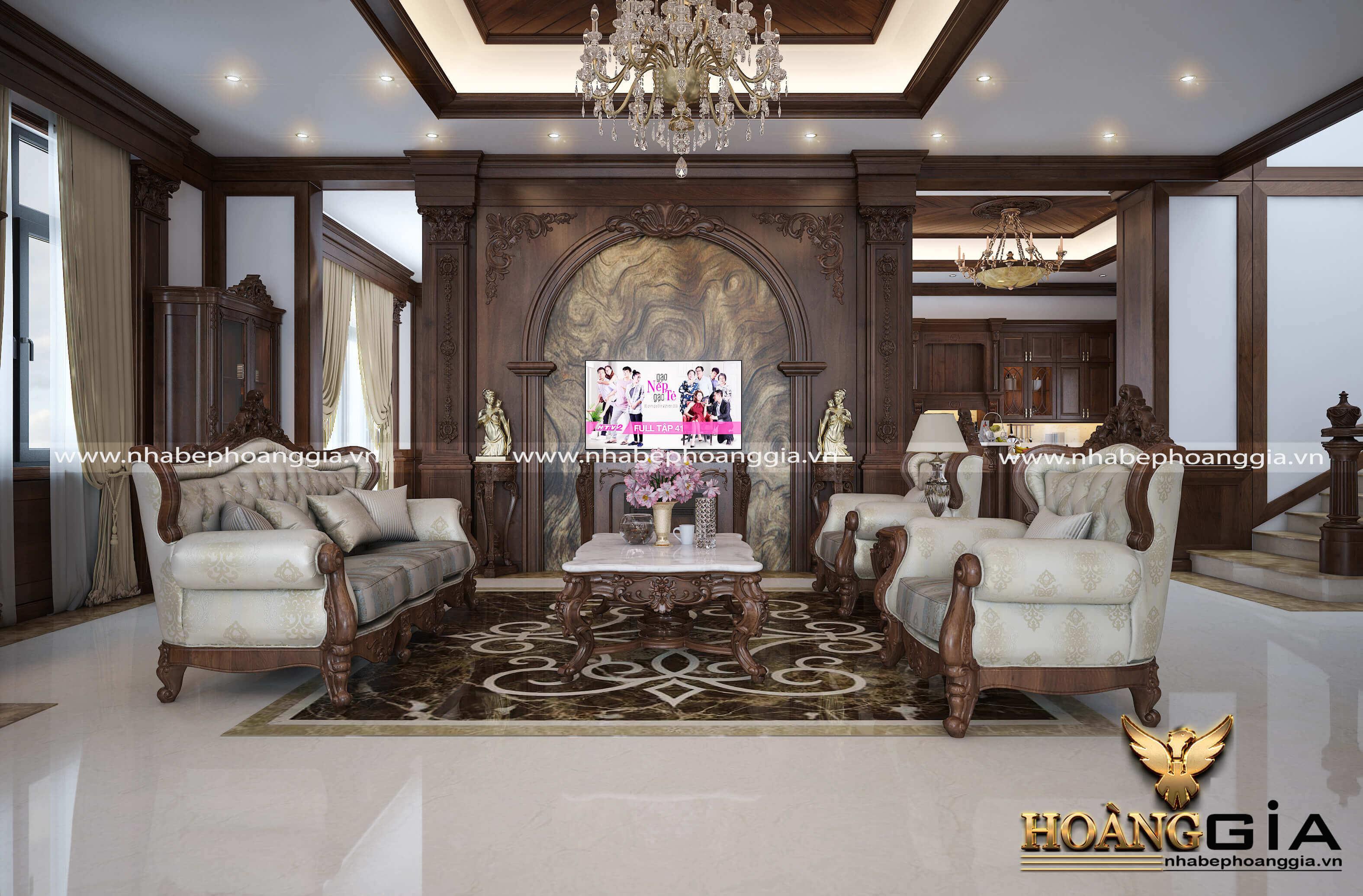 ưu nhược điểm của nội thất phòng khách tân cổ điển