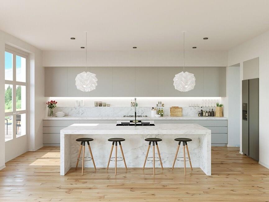 mẫu phòng bếp biệt thự hiện đại