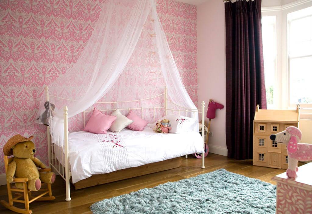 mẫu thiết kế phòng ngủ cho bé gái 2019