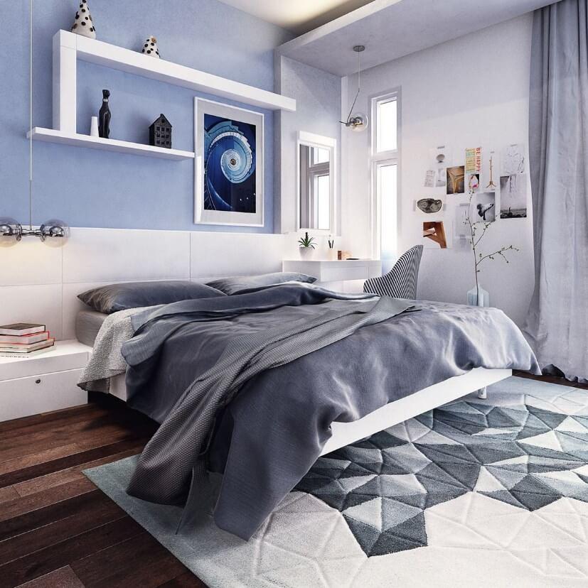 mẫu phòng ngủ cho các bạn trẻ