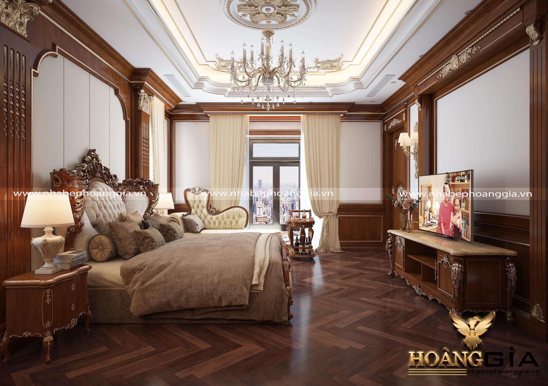 thiết kế nội thất phòng ngủ tân cổ điển Luxury