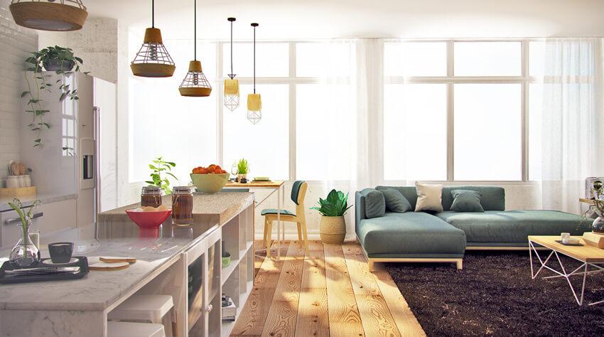 mẫu thiết kế căn hộ phong cách Scandinavian