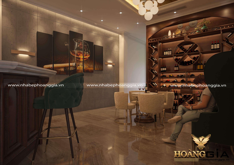 mẫu thiết kế quán rượu vang