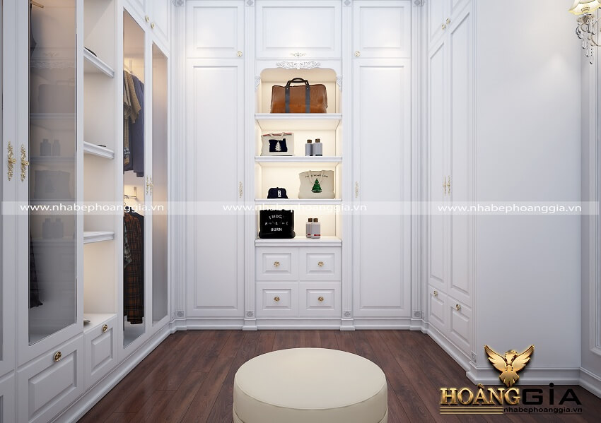 mẫu tủ quần áo tân cổ điển 2019