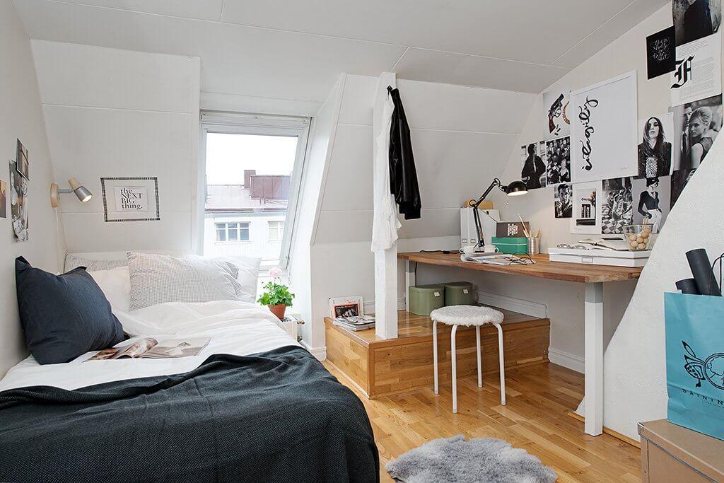 phòng ngủ có trần thấp
