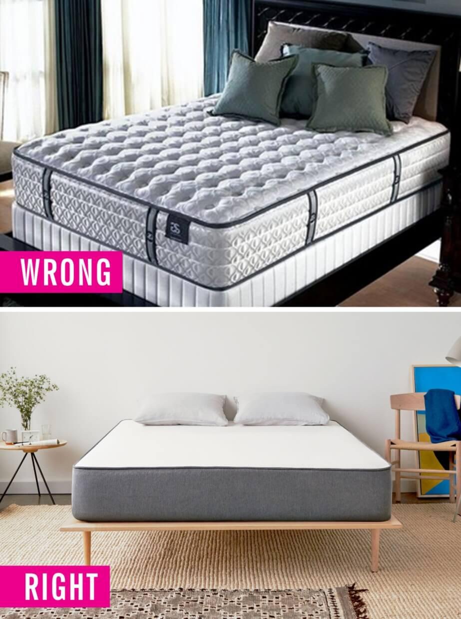 sai lầm trong thiết kế phòng ngủ