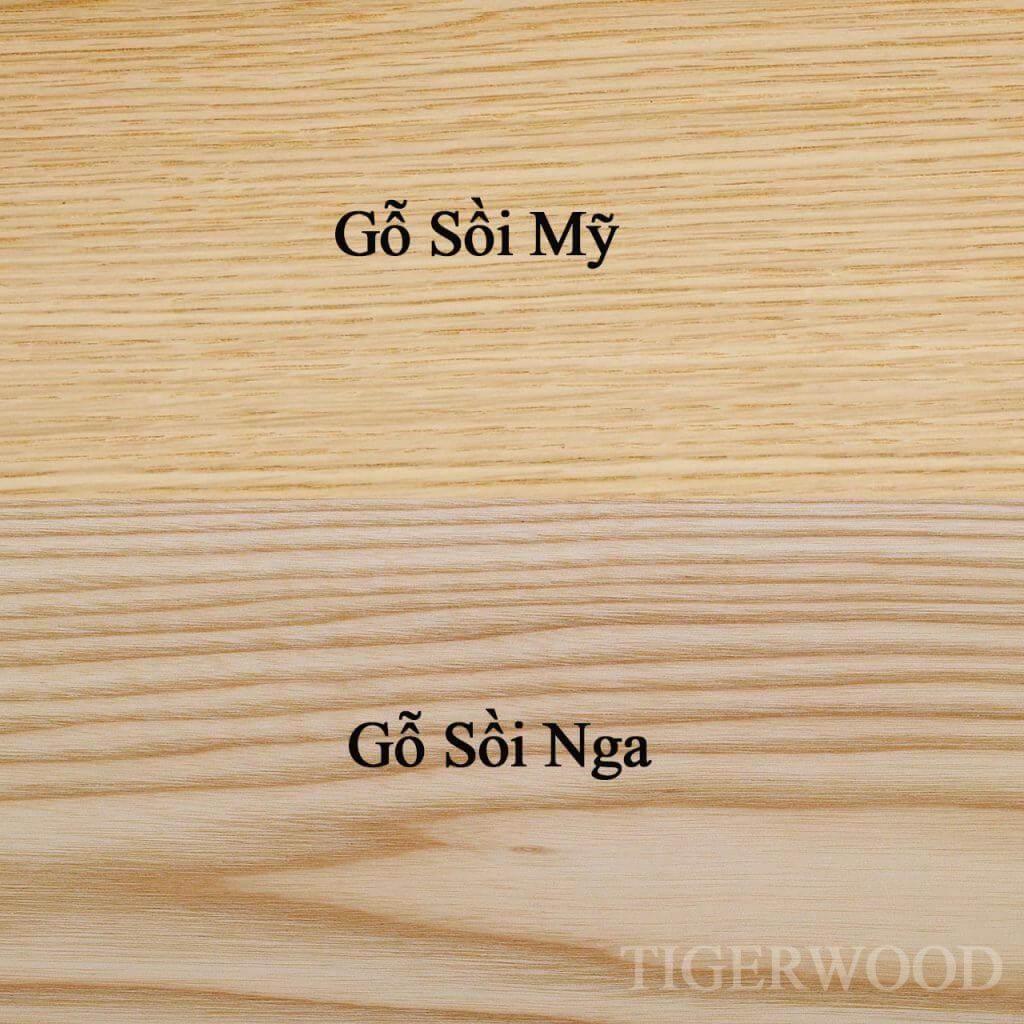 so sánh gỗ sồi Mỹ và gỗ sồi Nga