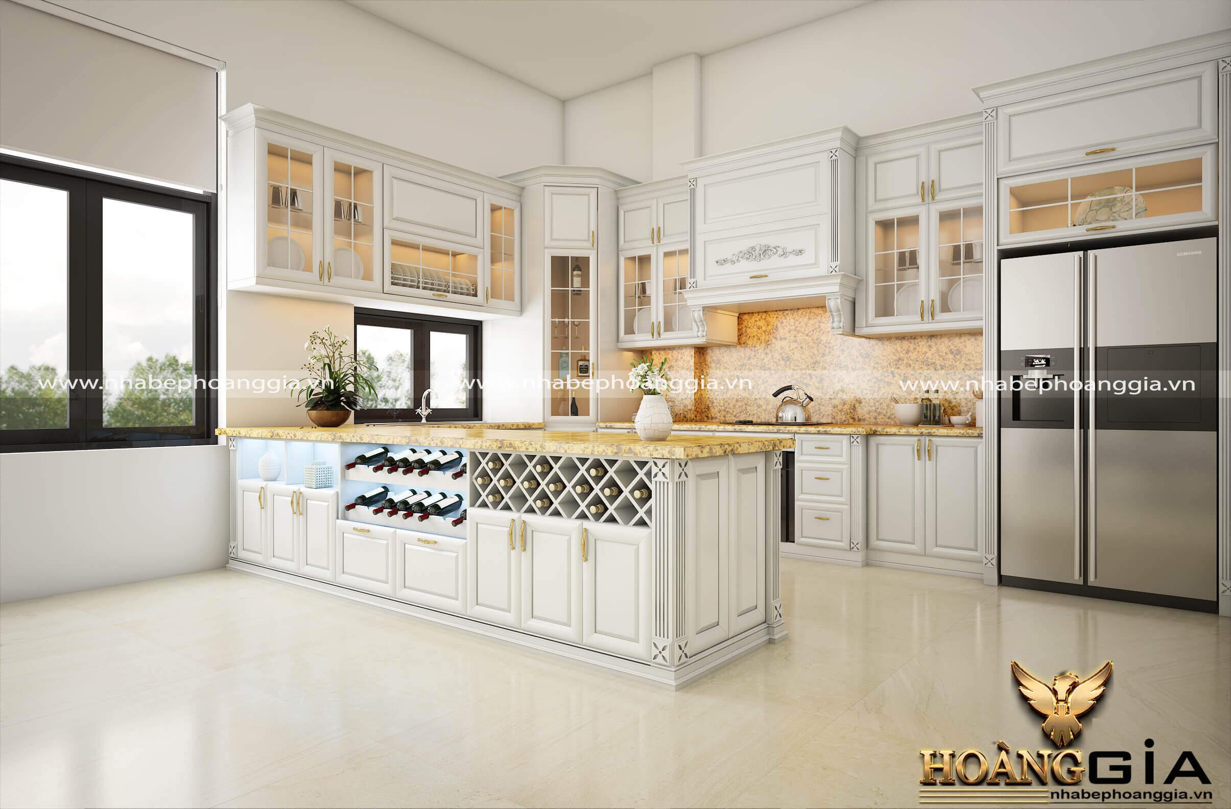 có nên dùng tủ bếp màu trắng không