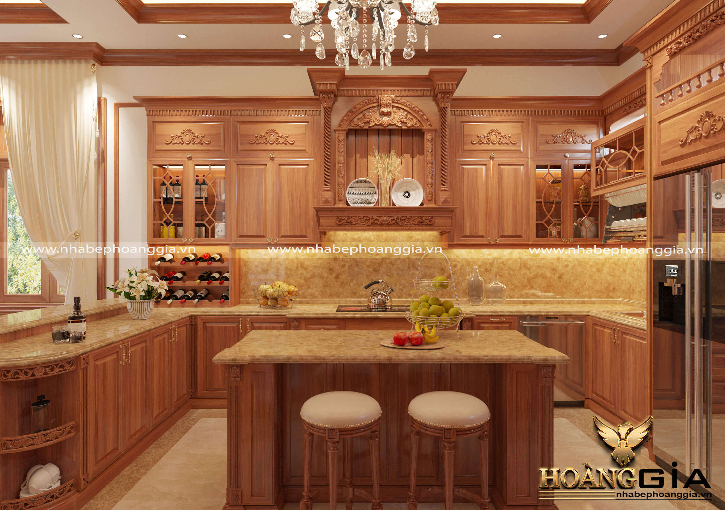 làm sạch tủ bếp gỗ tự nhiên