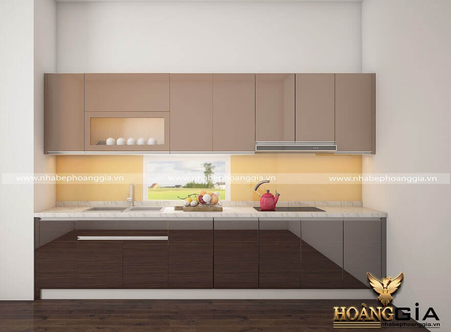 so sánh tủ bếp Laminate và tủ bếp Acrylic